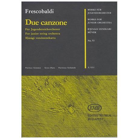 Werke für Jugendorchester - Frescobaldi: Due canzone
