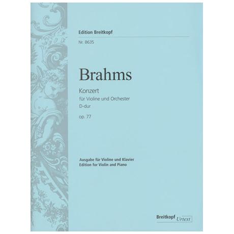 Brahms, J.: Violinkonzert D-Dur, op. 77