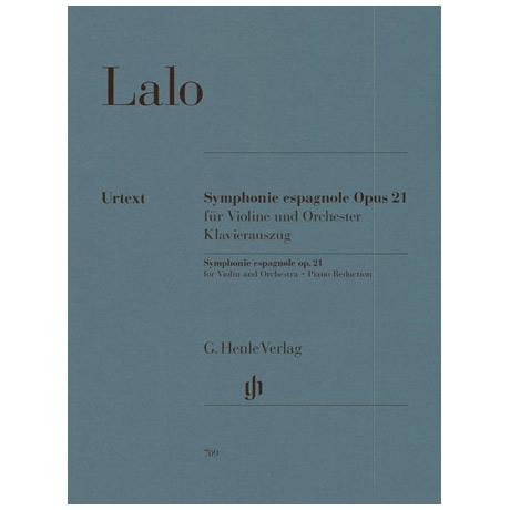 Lalo, E.: Violinkonzert Nr. 2 d-Moll »Symphonie espagnole, Op. 21 Urtext«