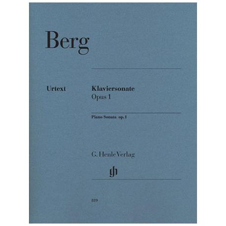 Berg, A.: Klaviersonate Op. 1