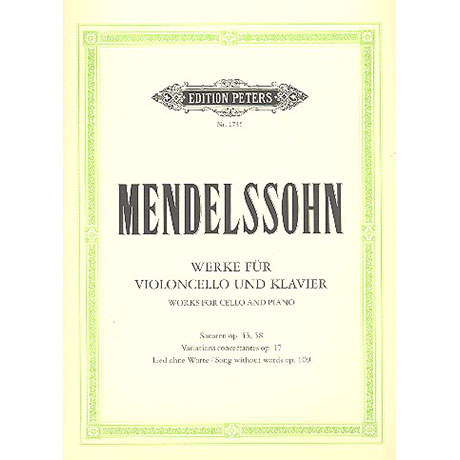 Mendelssohn Bartholdy, F.: Werke