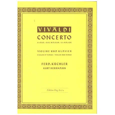 Vivaldi, A.: Violinkonzert Op. 3/3 RV 310 G-Dur