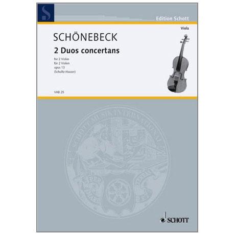 Schönebeck, C.S.: 2 Duos concertans Op.13