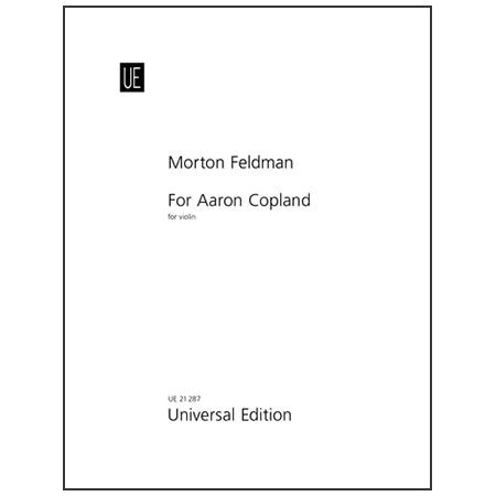 Feldman, M.: For Aaron Copland (1981)