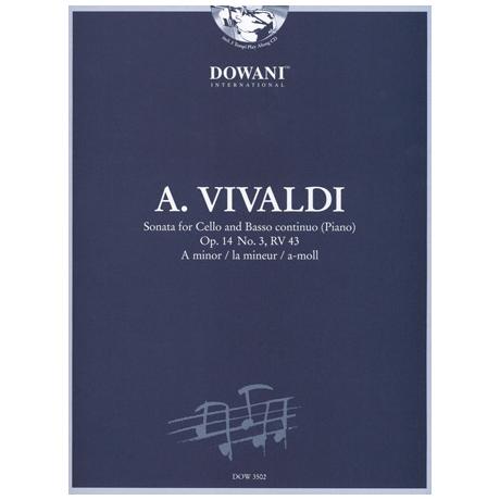 Vivaldi, A.: Sonate op. 14 Nr. 3, RV 43 in a-moll (+CD)