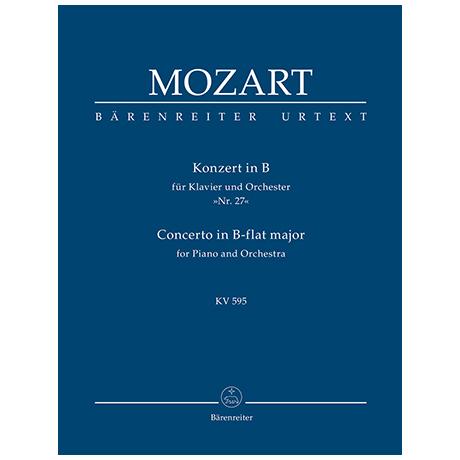 Mozart, W. A.: Konzert für Klavier und Orchester Nr. 27 B-Dur KV 595