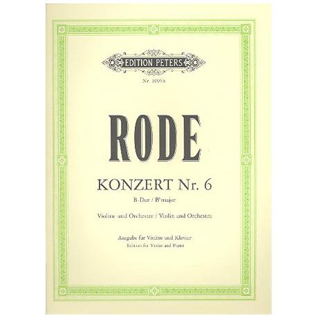 Rode, P.: Violinkonzert Nr. 6 B-Dur