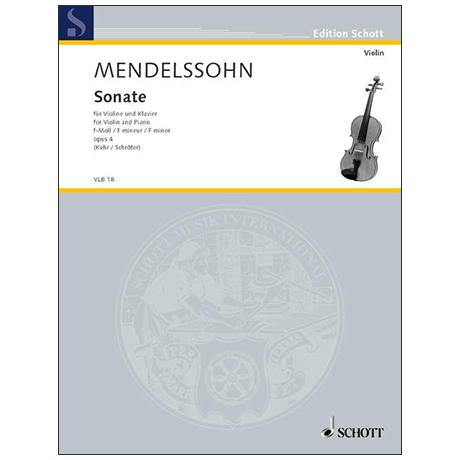 Mendelssohn Bartholdy, F.: Violinsonate Op. 4 f-Moll