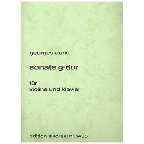 Auric, G.: Violinsonate G-Dur