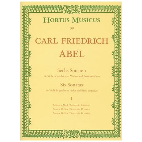 Abel, K.F.: Sechs Sonaten Band 1