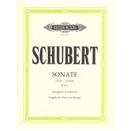 Schubert, F.: Violasonate für Arpeggione D 821 a-moll