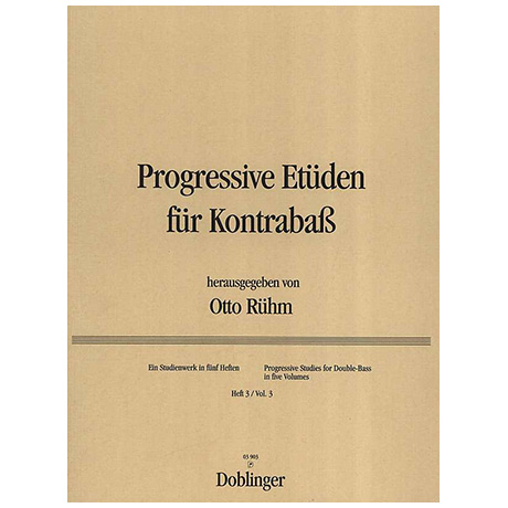 Progressive Etüden für Kontrabass