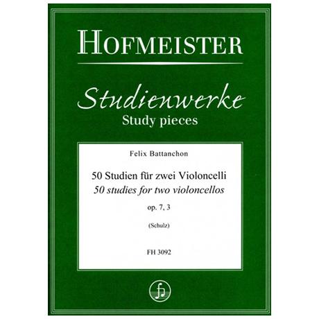 Battanchon, F.: 50 Studien für zwei Violoncelli Op. 7/3 (Nr. 40-50)