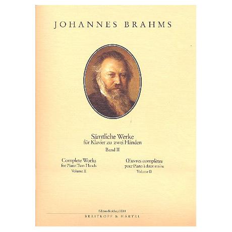 Brahms, J.: Sämtliche Werke Band II: Kleinere Klavierkompositionen