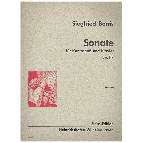 Borris, S.: Kontrabasssonate Op. 117