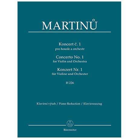Martinu, B.: Konzert Nr. 1 H 226