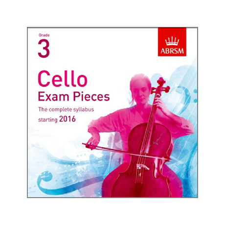 ABRSM: Cello Exam Pieces Grade 3 (2016-2019) CD
