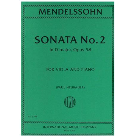 Mendelssohn Bartholdy, F.: Violasonate Nr. 2 Op. 58 D-Dur