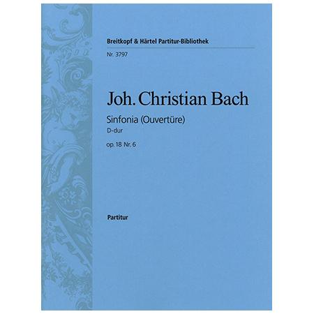 Bach, J. C.: Sinfonia D-Dur Op. 18 Nr. 6 – Ouvertüre
