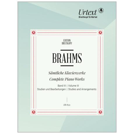 Brahms, J.: Sämtliche Werke Band III – Studien und Bearbeitungen