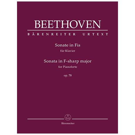 Beethoven, L. v.: Sonate Op. 78 Fis-Dur