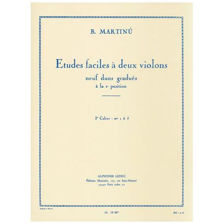 Martinu, B.: Etudes faciles à 2 violons Band 1 (Nr.1-5)