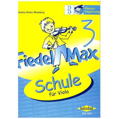 Holzer-Rhomberg, A.: Fiedel-Max für Viola Schule 3 – Klavierbegleitung