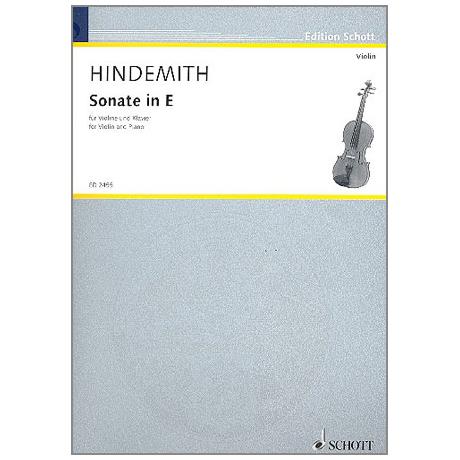 Hindemith, P.: Sonate E-Dur