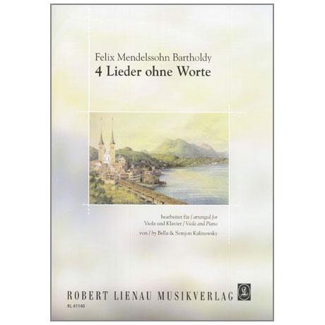 Mendelssohn Bartholdy, F.: 4 Lieder ohne Worte
