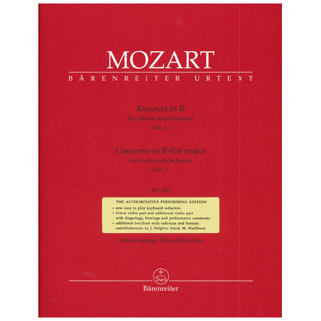 Mozart, W. A.: Violinkonzert (Nr. 1) KV 207 B-Dur