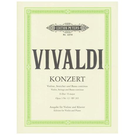 Vivaldi, A.: Violinkonzert E-Dur op. 3/12 RV 265