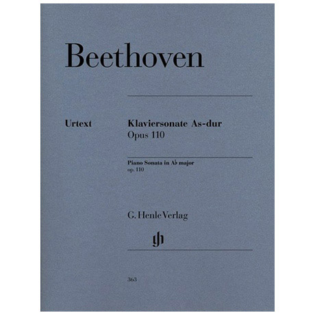 Beethoven, L. v.: Klaviersonate Nr. 31 As-Dur Op. 110