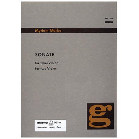 Marbe, M.: Sonate für 2 Violen (1966)