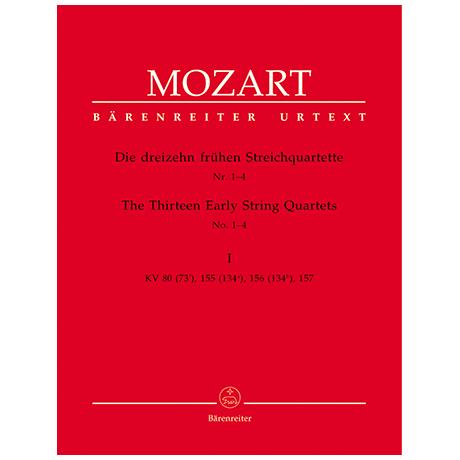 Mozart, W.A.: Die dreizehn frühen Streichquartette Bd.1 KV 80, 155, 156, 157