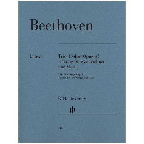 Beethoven, L. v.: Streichtrio Op. 87 C-Dur