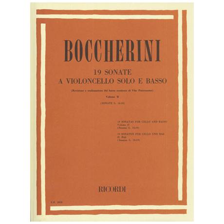 Boccherini, L.: 19 Violoncellosonaten Band 2 (Nr.10-19)