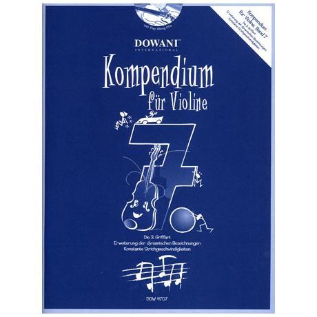 Kompendium für Violine – Band 7 (+CD)