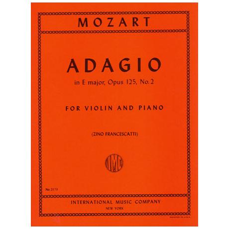 Mozart, W. A.: Adagio KV 261 E-Dur