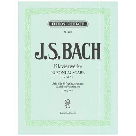 Bach, J. S.: Aria mit 30 Veränderungen (Goldber-Variationen) BWV 988