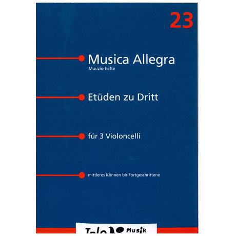 Bünemann, E.: Etüden zu Dritt für 3 Violoncelli