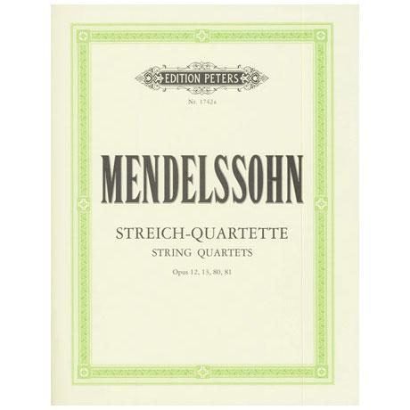 Mendelssohn Bartholdy, F.: Streichquartette Band 1: Op. 12, 13, 80, 81