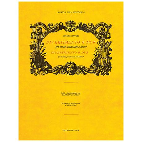 Haydn, J.: Divertimento B-Dur – für Violine, Violoncello und Klavier
