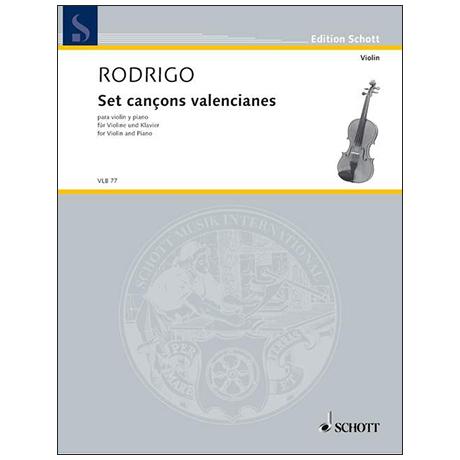 Rodrigo, J.: Set cançons valencianes
