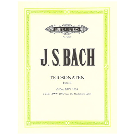 Bach, J. S.: Triosonaten Band 2