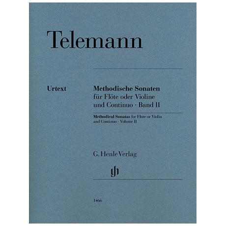 Telemann, G. P.: Methodische Sonaten für Flöte oder Violine und Bc Bd. II