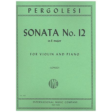 Pergolesi, G. B.: Violinsonate Nr. 12 E-Dur