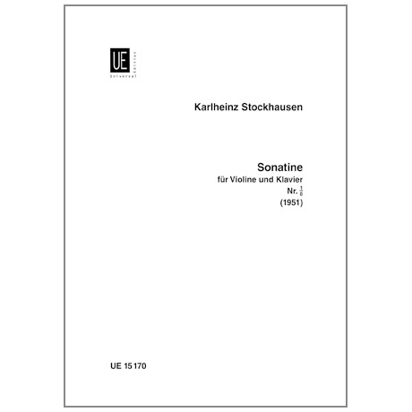 Stockhausen, K.: Sonatine