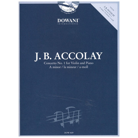 Accolay, J.B.: Konzert Nr. 1 in a-Moll (+CD)