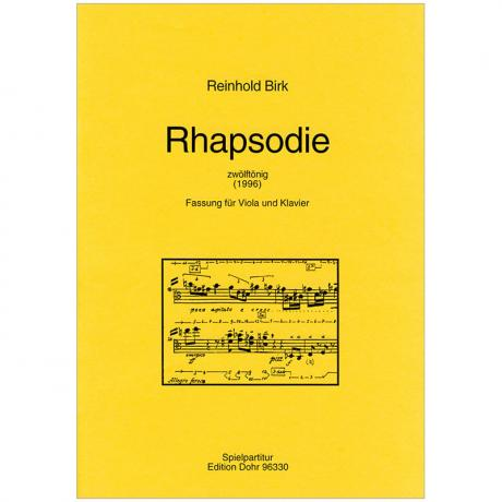 Birk, R.: Rhapsodie »zwölftönig« (1996)
