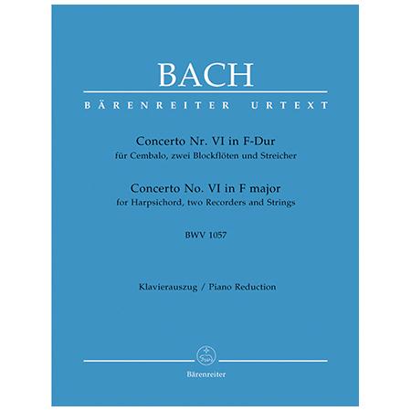 Bach, J. S.: Cembalokonzert Nr. 6 BWV 1057 F-Dur